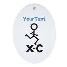 PERSONALIZE XC Runner Ornament (Oval)