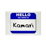 hello my name is kamari Rectangle Magnet