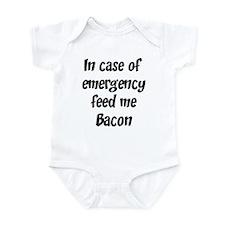 Feed me Bacon Infant Bodysuit