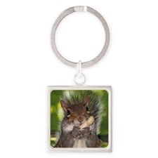 squirrel Square Keychain