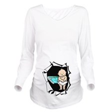 Baby Boy Swimming Long Sleeve Maternity T-Shirt