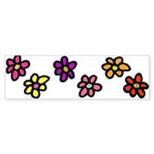 Mini Flowers Cut Out Bumper Bumper Sticker