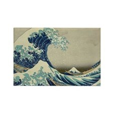 The Great Wave off Kanagawa (???? Rectangle Magnet