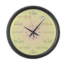 Math Clock (Yellow-Peach gradient) Large Wall Cloc