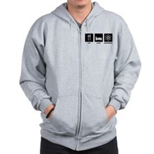Eat Sleep Experiment Zip Hoodie