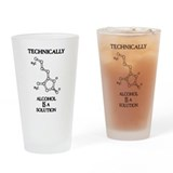 Alcohol molecule Pint Glasses