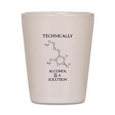Alcohol, A Solution Shot Glass