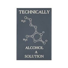 Alcohol, A Solution Rectangle Magnet