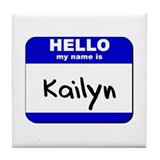 hello my name is kailyn  Tile Coaster