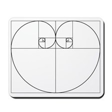 Golden Ratio Heart Mousepad