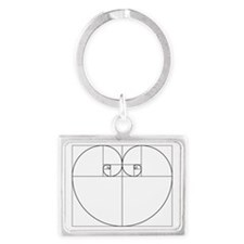 Golden Ratio Heart Landscape Keychain