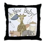 Jungle Animal New Baby Throw Pillow