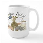 Jungle Animal New Baby Large Mug