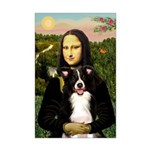 Mona & Border Collie Mini Poster Print