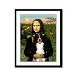 Mona & Border Collie Framed Panel Print