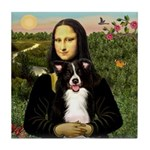 Mona & Border Collie Tile Coaster