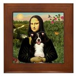 Mona & Border Collie Framed Tile
