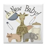 Jungle Animal New Baby Tile Coaster