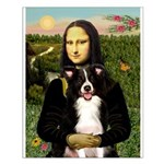 Mona & Border Collie Small Poster