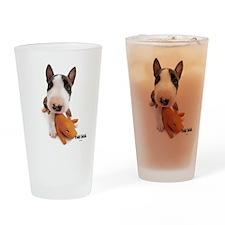 Bull Terrier Drinking Glass