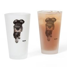 Miniature Schnauzer Drinking Glass