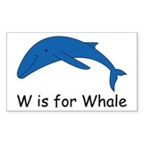 W is for Whale Rectangle Decal