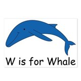 W is for Whale Postcards (Package of 8)