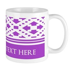 Custom Text Pattern Background Mug