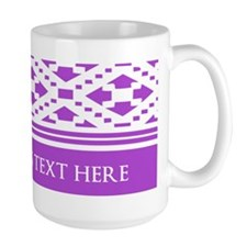 Custom Text Pattern Background Mug