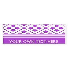 Custom Text Pattern Background Bumper Sticker
