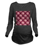 Lounge Leather - Pink Long Sleeve Maternity T-Shir