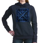Rusty Shipping Container - blue Hooded Sweatshirt