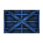 Rusty Shipping Container - blue Mini Poster Print