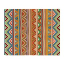 Mix #75, Tribal Throw Blanket