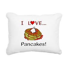 I Love Pancakes Rectangular Canvas Pillow