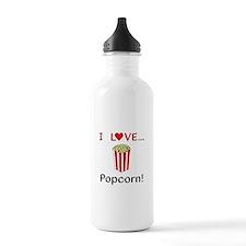 I Love Popcorn Sports Water Bottle