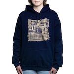 Vintage Sewing Toile Hooded Sweatshirt