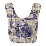 Vintage Sewing Toile Bib