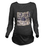Vintage Sewing Toile Long Sleeve Maternity T-Shirt