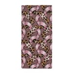 Leopards and Lace - Pink Beach Towel