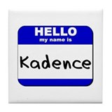 hello my name is kadence  Tile Coaster