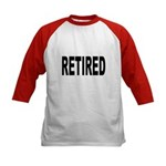 Retired (Front) Kids Baseball Jersey