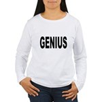 Genius (Front) Women's Long Sleeve T-Shirt