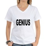 Genius (Front) Women's V-Neck T-Shirt