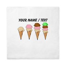 Custom Ice Cream Cones Queen Duvet