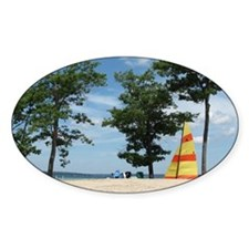 sailboard beach scene  Decal