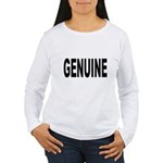Genuine (Front) Women's Long Sleeve T-Shirt