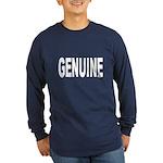 Genuine (Front) Long Sleeve Dark T-Shirt