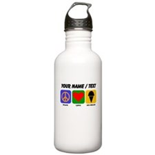 Custom Peace Love Ice Cream Sports Water Bottle