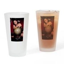 Goddess Bella Donna and globe Drinking Glass